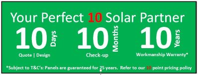 Your Perfect 10 Solar Partner for all Commercial PV requirements